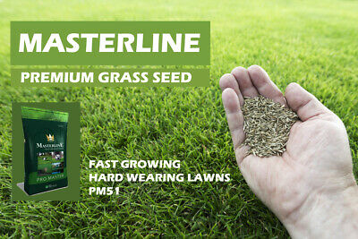 Premium Grass Seed Masterline Fast Growing Hard Wearing Lawns