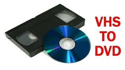 Transfer your old VHS video tapes to DVD / MP4 / Youtube ONLY £3.50 per tape!!!