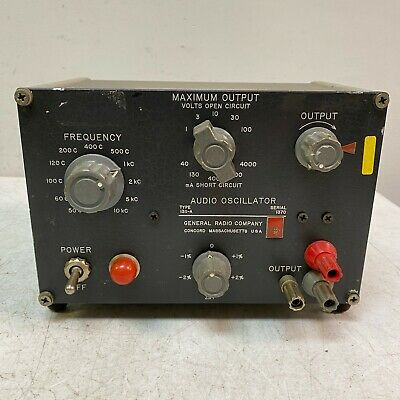 General Radio GR 1311-A Audio Oscillator Tested and Working