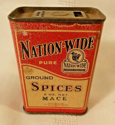 Nation-Wide Mace Vintage Spice Tin, From Nation-Wide Grocers