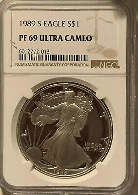 1989 S Proof $1 American Silver Eagle NGC PF 69 UCAM