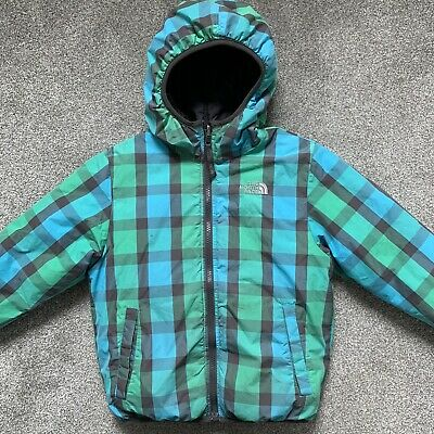 North Face Children's Kids Reversible Down Puffer Jacket Coat Hooded 550 Age 7/8