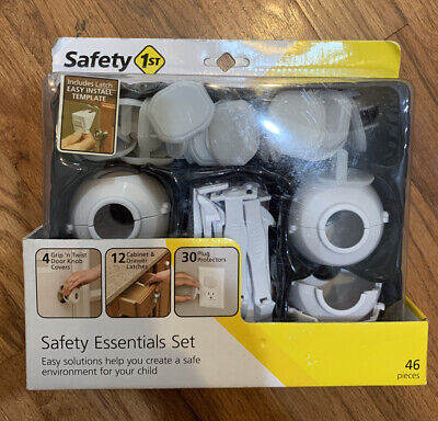 BRAND NEW!! Safety 1st Essentials Childproofing Kit, 46 Pieces Plug Knob Cabinet