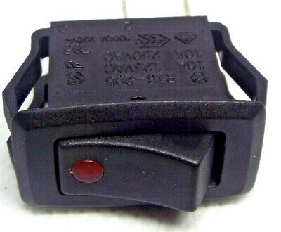 RED 240v 10A Illuminated Rectangular Rocker Switch 27 x 13mm cut out snap in