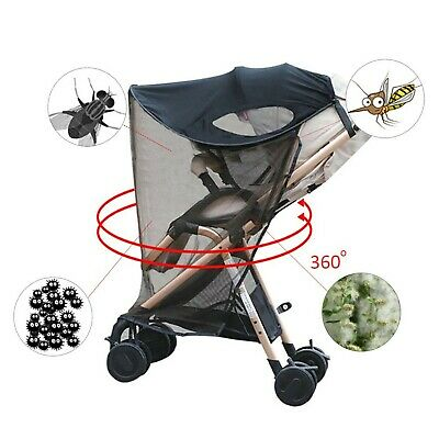 Per 2-in-1 Baby Stroller Anti-UV Sun Shade With Mosquito Net Curtain Awning W...