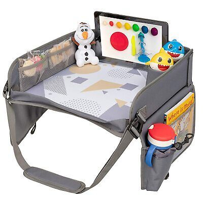 KIDS Travel Tray, over Car Seat Tray with Organizers