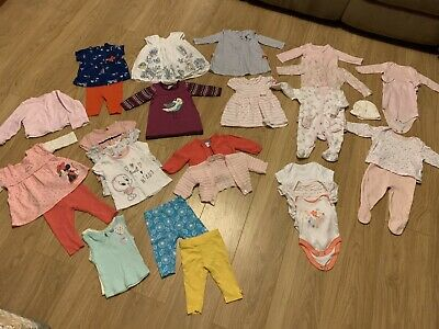 Job Lot / Bundle Baby Girls Clothes 0-3 Months Great Condition 29 Items 2kg