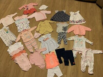 Job Lot / Bundle Baby Girls Clothes 0-3 Months Great Condition 31 Items 2kg