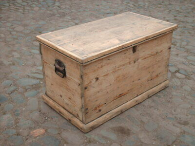 Victorian Pine Blanket Box / Chest
