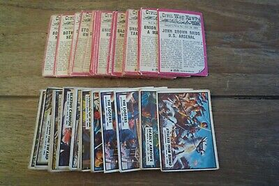 A&BC Civil War News Cards - 1965 - Good/Fair Condition - Pick The Cards You Need
