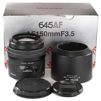 Mamiya 645 AF 150mm 1:3.5 for Mamiya AF AFD II III and Phase One 645DF DF+ Boxed