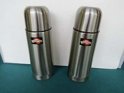 2-Drambuie Stainless Steel10 Oz. Push Button Spout Bottles(His & Hers)