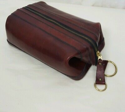 """Bosca Old Leather 10"""" Zipper Top Utility -Kit Made In USA"""