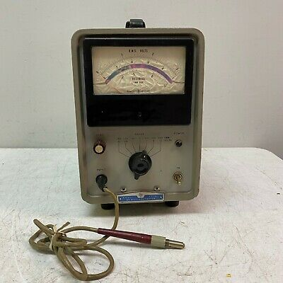 HP Hewlett Packard 411A RF Millivoltmeter Tested and Works Great