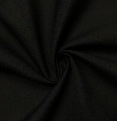 "Black  Cotton Fabric 45"" Width Sold By The Yard"