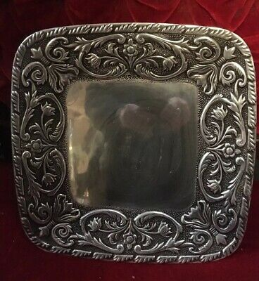 Wilton Armetale Pewter William and Mary Square Platter Tray 14 Inch RWP