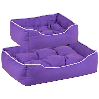 Me & My Pets Soft Purple Dog Bed Padded Cosy Cushion Puppy/Cat Washable Bedding