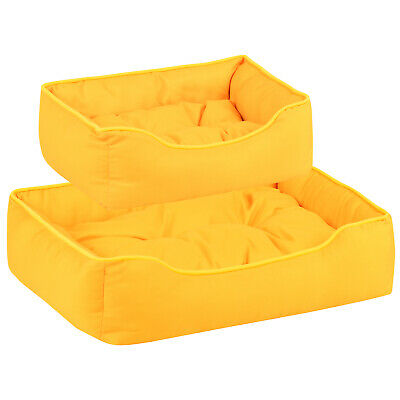 Me & My Pets Soft Yellow Dog Bed Padded Cosy Cushion Puppy/Cat Washable Bedding