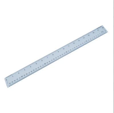 Plastic Shatterproof Ruler 50cm Clear FREE NEXT DAY DELIVERY !