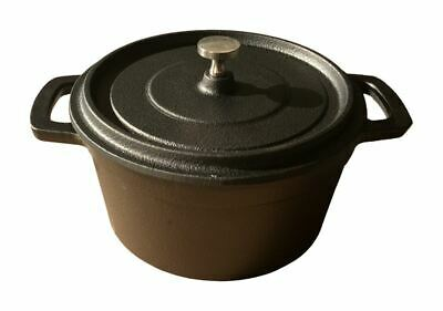 Small Cast Iron Stock Pot Camping Cooking Pot Dutch Oven Pot Camp Fire Pot