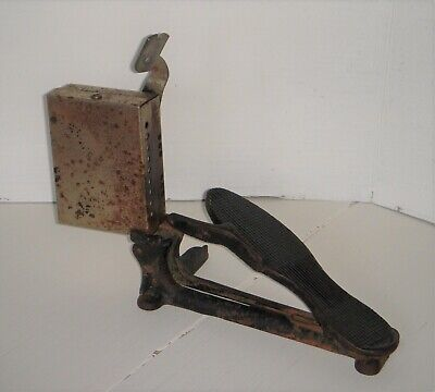 Vintage Dentist Tool Cast Iron Electric Foot Pedal for Dental Drill