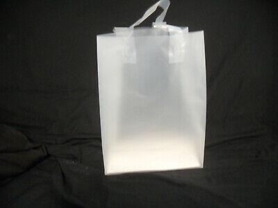 Frosted Plastic Gift Bags