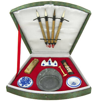 Handmade Compact Calligraphy Set (China) Green