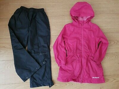 Girls Pink Raincoat 4-5years with waterproof trousers by Peter Storm