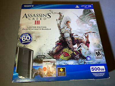Playstation 3 PS3 500GB Super Slim Assassin's Creed III Limited Edition New