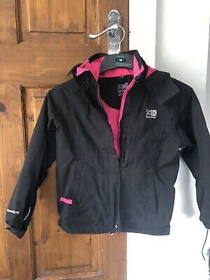 Girls Outdoor Coat Age 7-8 Karrimor Black