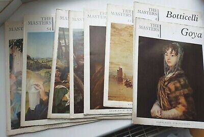 8 x Art Magazines -The Masters by Knowledge Publications-Job Lot/Bundle (1960s)