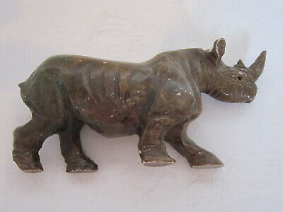 Vintage Collectable Chinese Stone Hand Carved Rhinoceros