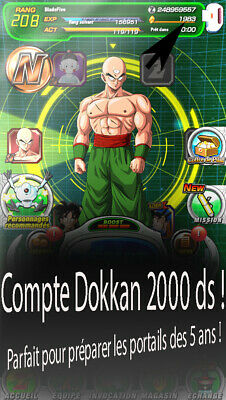 Compte dokkan battle Global (2000 ds) et Japanese (1900 ds) Android !