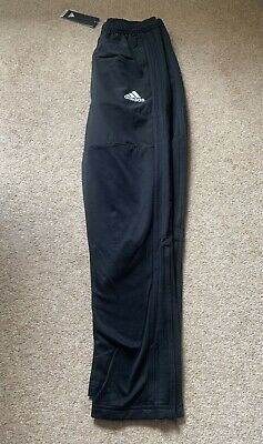 BNWT Boys Adidas Junior  Tracksuit Bottoms in Black - Age 13/14 Years