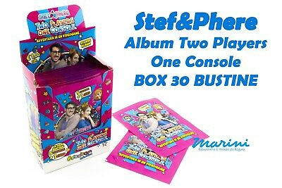 Stef&Phere Two Players One Console Box 30 Bustine Stickers Adesive  Novita' 2020