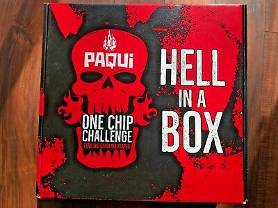 """Paqui One Chip Challenge Hell in a Box """"BOX ONLY"""""""