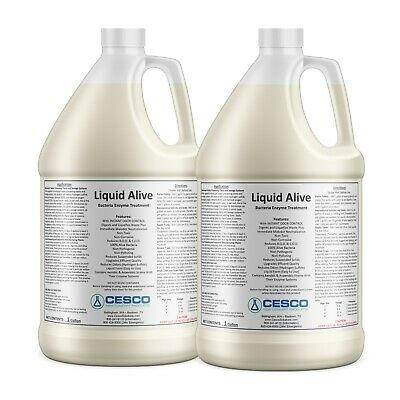 Liquid Alive Bacteria Enzyme Treatment - Septic RV Waste Odor Digester - 2 Gal