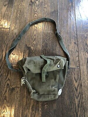 Vintage 1960s US Army Military Issue deployment Shoulder Bag w/name