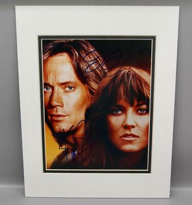 Xena Lucy Lawless & Hercules Kevin Sorbo Signed Autograph Matted Photograph Coa