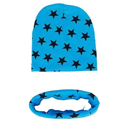 2X(Fashion Unisex Baby Girls Child Boys Star Pattern Hats Scarf Two-piece S B8D4