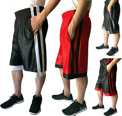 Men's Athletic Workout Fitness Basketball Sports Run Gym Shorts With 2 Pockets