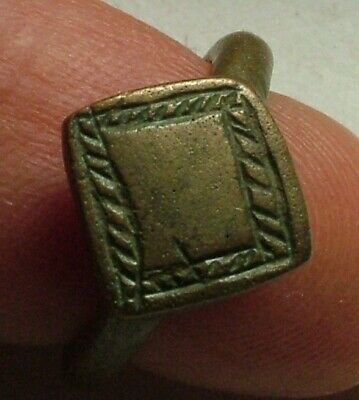 Rare Genuine Ancient Greek silver twisted wire double bezel ring artifact intact