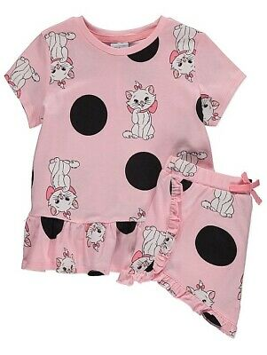 George Marie the aristocats top and shorts summer outfit pink age 1.5-5years
