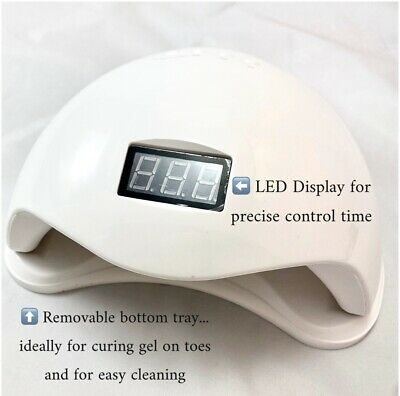 Gel Lamp Nail Lamp UV LED Gel Nail Curing 3 Timers 48w Brand New In Box Sealed