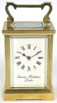 Vintage French 8 Day Carriage Clock Brass Charles Frodsham French Mantel Clock