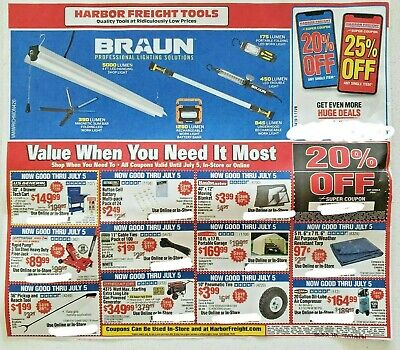 Harbor Freight Tools Coupons 20% Off (12) Expires On 07.05.2020 In Store On Line