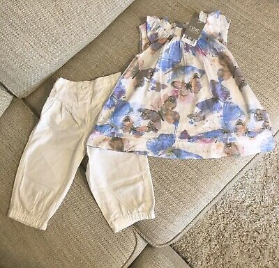 Brand New with Tags Girls NEXT Top & Trousers Outfit Set 2-3 Years Spring Summer