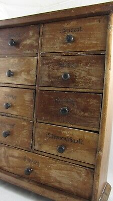 Rare Antique 19th Century Old German Spice Chest Cupboard Backstamp Berlin