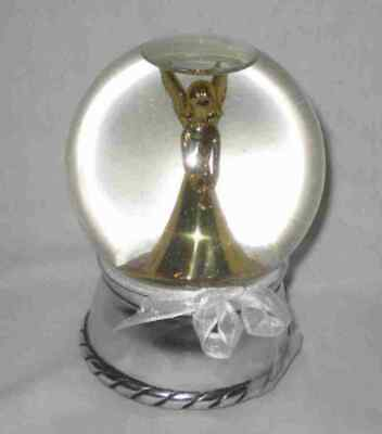 "Pretty 5 1/2"" ANGEL Snow Globe Music Box"