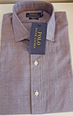 Polo Ralph Lauren Men's 100% Cotton check Size 15.5/39 Mod Ska chap Weller gift